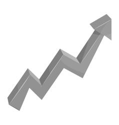 Business arrow icon black monochrome style vector image
