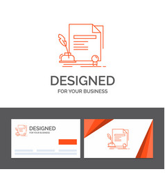 business logo template for contract paper vector image