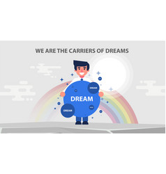 Businessman carriers of dreams vector