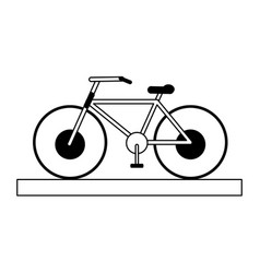 Bycicle silhouette vector