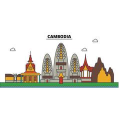 camdodia camdodia city skyline architecture vector image