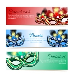 Carnival mask banners vector image