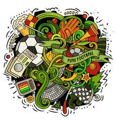 Cartoon doodles football vector