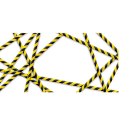 caution tape police do not pass do not cross vector image