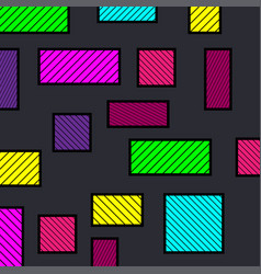Colorful abstract geometric background colorful vector