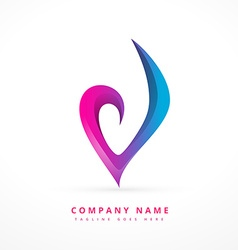 colorful abstract logo template design art vector image