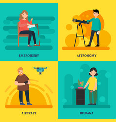 colorful university courses square concept vector image