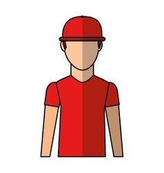 Courier man avatar worker vector