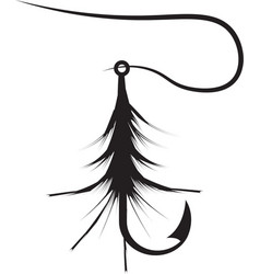 design template of fishing hook lure vector image
