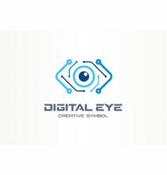 digital eye creative symbol concept cyber vision vector image
