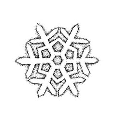 Dotwork snowflake vector