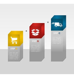 E commerce info graphics steps vector image
