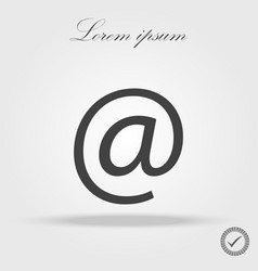 e-mail icon flat design best icon vector image