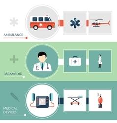 Emergency Paramedic Banners Set vector