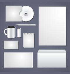 Empty corporate identity template vector
