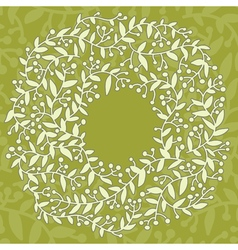 Flower pattern frame with place for your text vector image vector image