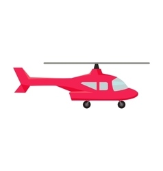 Fly Helicopter Icon vector image
