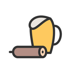 Food and beer vector