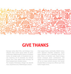 give thanks line design template vector image