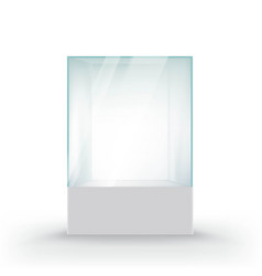glass showcase for the exhibition vector image