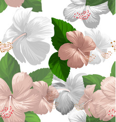 hibicus flowers pattern vector image
