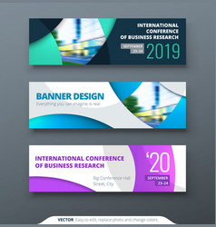 Horizontal web banner templtes with circles and vector