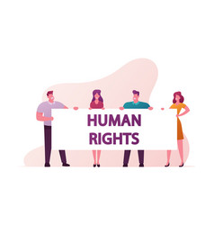 human right concept protesting people with vector image