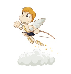 hurrying angel vector image