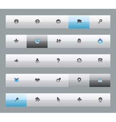 Interface buttons for signs vector