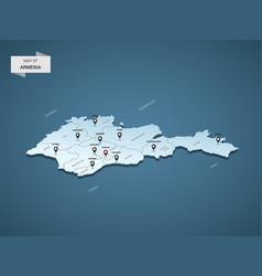 Isometric 3d armenia map concept vector