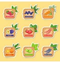 Jam Label Sticker Collection Of Templates In vector