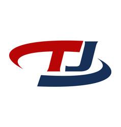 Letter t j vector