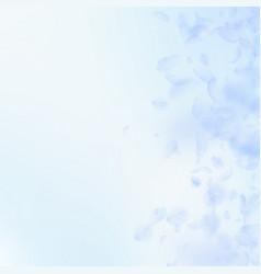 Light blue flower petals falling down fabulous ro vector