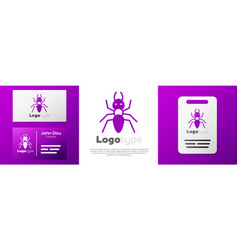 Logotype ant icon isolated on white background vector