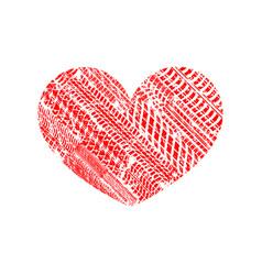 love track shape vector image