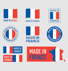 made in france labels set french product emblem vector image
