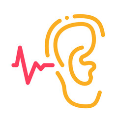 Making sounds by ear icon outline vector