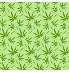 Marijuana background seamless patterns vector image vector image