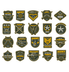 Military and army patches chevrons vector