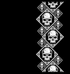 New pattern 2019 skull 0003 vector