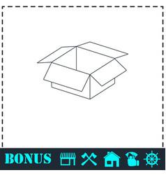 open box icon flat vector image