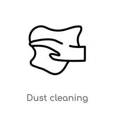 outline dust cleaning icon isolated black simple vector image