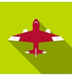 Passenger plane icon flat style vector