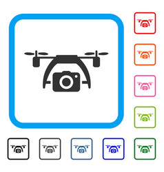 Photo drone framed icon vector