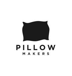 Pillow makers bedroom sleep logo vector