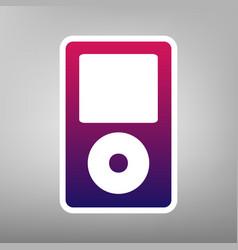 Portable music device purple gradient vector