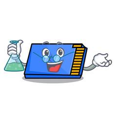 Professor memory card character cartoon vector