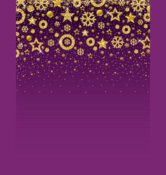 purple christmas card with frame of golden vector image