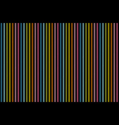 rainbow lines on black background seamless texture vector image