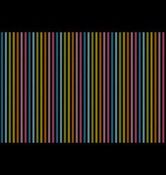 Rainbow lines on black background seamless texture vector